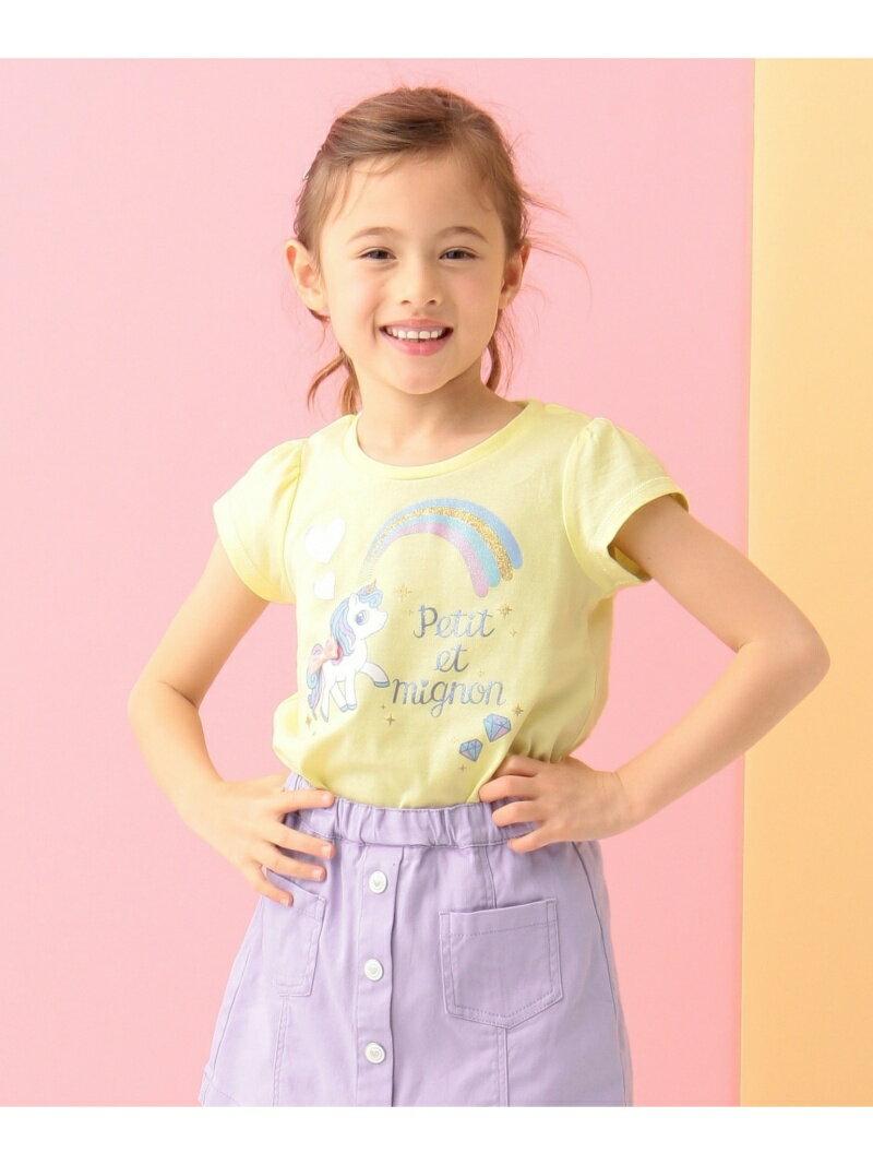 any FAM KIDS 【SCHOOL】ユニコーンプリント 40/2天竺 カットソー エニィファム カットソー
