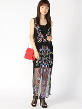 (W)CASSIA EMBROIDERED MESH DRESS