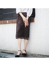 WEB限定 レースタイトスカート【予約】