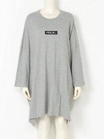 【SALE/50%OFF】BAR BIG SILETT DRESS ミルクフェド ワンピース【RBA_S】【RBA_E】【送料無料】