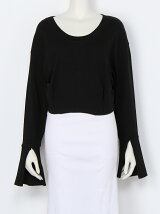 BELL SLEEVE CROPPED TOPS
