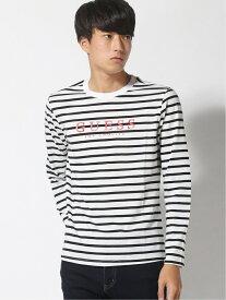 【SALE/69%OFF】GUESS (M)Mens L/Slv Tee Shirt ゲス カットソー Tシャツ ブラック レッド
