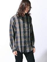 (M)M/NチェックリネンLSシャツ