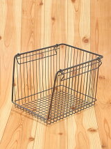 WIRESTORAGEOPENBASKETA4L(グレー)