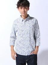 (M)ZIP FIVE レギュラーカラー7分袖 パナマシャツ