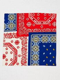 チャイハネ バンダーナバンダナ チャイハネ ファッショングッズ スカーフ/バンダナ レッド パープル ブラウン