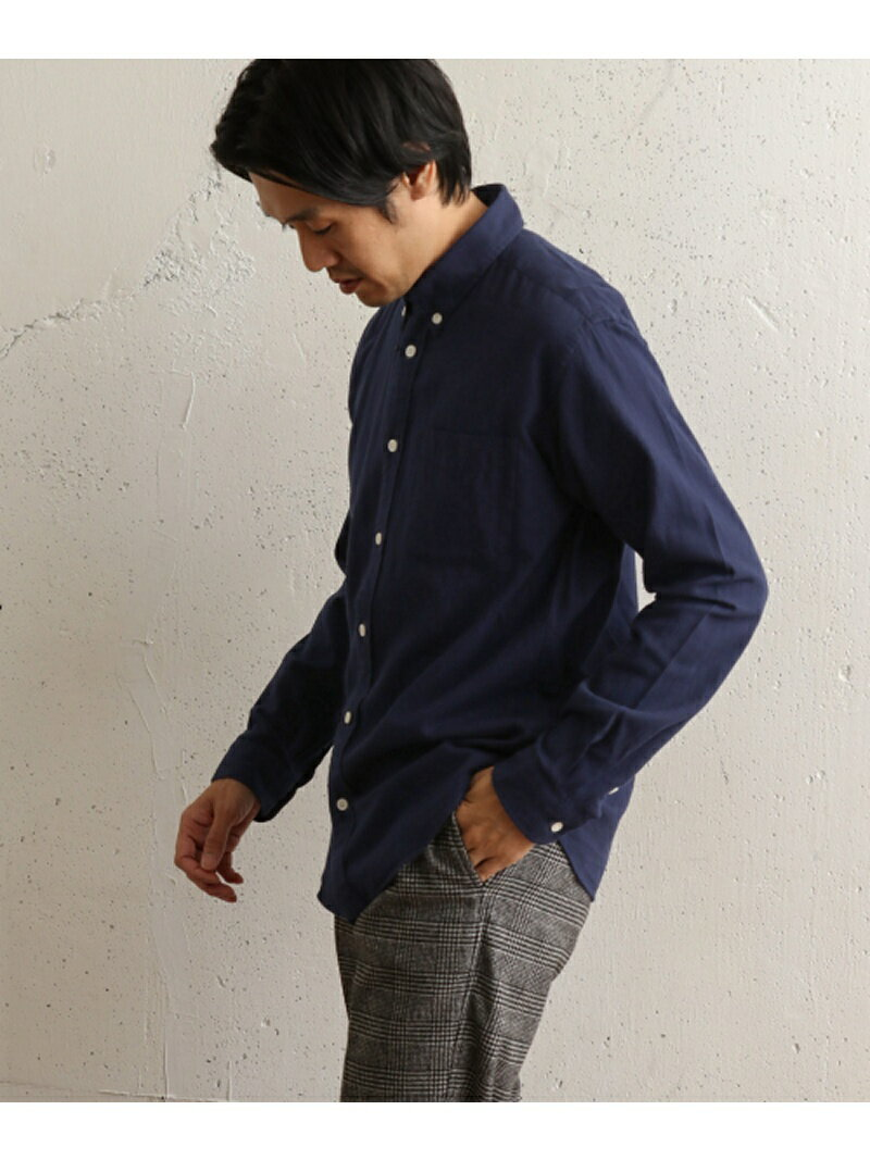 DOORS ネル無地ボタンダウンシャツ アーバンリサーチドアーズ シャツ/ブラウス【送料無料】