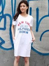 (W)Hilfiger Denim/クルーネックTドレス