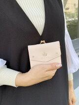(W)Pi/がま口付き3つ折り財布