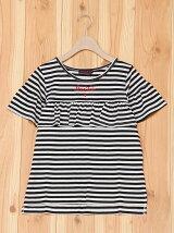 ヨークフリル肩開き半袖Tシャツ/ジュニア/夏/ガール/女の子