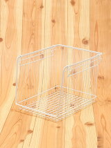 WIRESTORAGEOPENBASKETA4L(ホワイト)