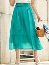 【SALE/40%OFF】Viaggio Blu 【大きいサイズ】クレープティアードスカート ビアッジョブルー スカート ロングスカー…