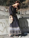 TODAYFUL Georgette Pattern Dress トゥデイフル【先行予約】*【送料無料】