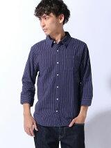 (M)ZIP FIVE レギュラーカラー7分袖パナマシャツ
