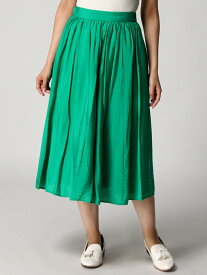 【SALE/80%OFF】INTERPLANET INTERPLANET/(W)ヴィンテージサテンスカート インタープラネット スカート ロングスカート グリーン オレンジ
