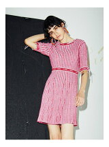 KITTEN GLITTER STRIPE KNIT DRESS