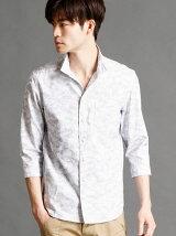 迷彩柄7分袖シャツ