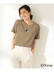any FAM 【洗える】OYAKO-DEディズニーコレクションTシャツ エニィファム カットソー Tシャツ ブラウン ホワイト ブラック ピンク