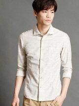 綿麻7分袖シャツ