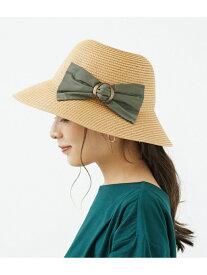 【SALE/50%OFF】ROPE' PICNIC PASSAGE バックルリボン折りたたみハット ロペピクニック 帽子/ヘア小物 ハット ブラック ブラウン