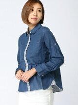 IEDIT/コットン100%UVカットシャツ/658043