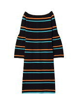 PLEATS SLEEVE KNIT DRESS