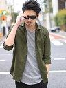 RATTLE TRAP <新色追加>フレンチリネンシャツ(ホリゾンタルカラー、7分袖) メンズ ビギ シャツ/ブラウス 長袖シャツ…