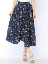 夏花柄イレヘムロングスカート
