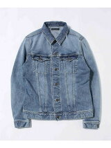 CHEMICAL WASH DENIM JKT