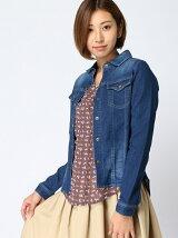 IEDIT/スウェットデニムジャケットシャツ/638475