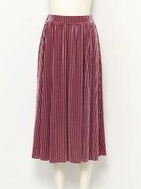 ベロアシースルースカート
