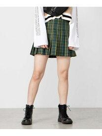WEGO WG STANDARD/(L)チェックプリーツミニスカート ウィゴー スカート プリーツスカート/ギャザースカート グリーン パープル ベージュ グレー