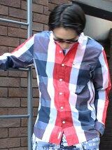 (M)Hilfiger Denim/ビッグチェックシャツ