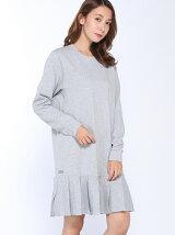 (W)スウェットプリーツドレス (長袖)