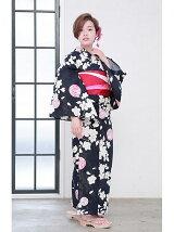 桜×手毬柄浴衣