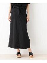 サッシュリボン付きロングスカート