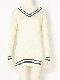 【SALE/57%OFF】beautiful people silk pleats tildensweater ビューティフル ピープル ニット 長袖ニット ホワイト【送料無料】