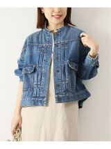 5 1/2 2ND-LINE CROP DENIM JK