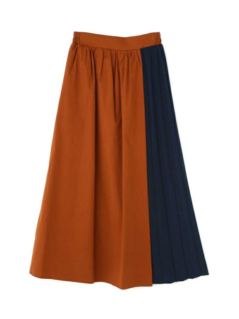 【SALE/50%OFF】ROSE BUD バイカラープリーツスカート ローズバッド スカート【RBA_S】【RBA_E】【送料無料】