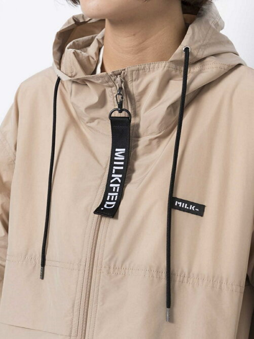 SLEEVE LOGO  HOODED ZIP UP BLOUSON 2