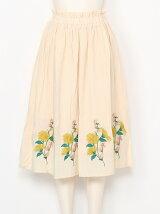 裾刺繍スカート