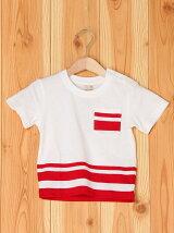 裾ラインTシャツ/キッズ/夏