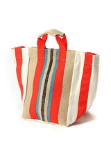 SUMMER STRIPE SHOULDER TOTEBAG