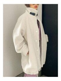 GYDA ボアロングコート ジェイダ コート/ジャケット ロングコート ホワイト ブラック【送料無料】