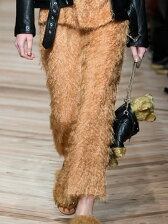 cut fur cloth pants
