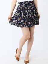 花柄スカートパンツ