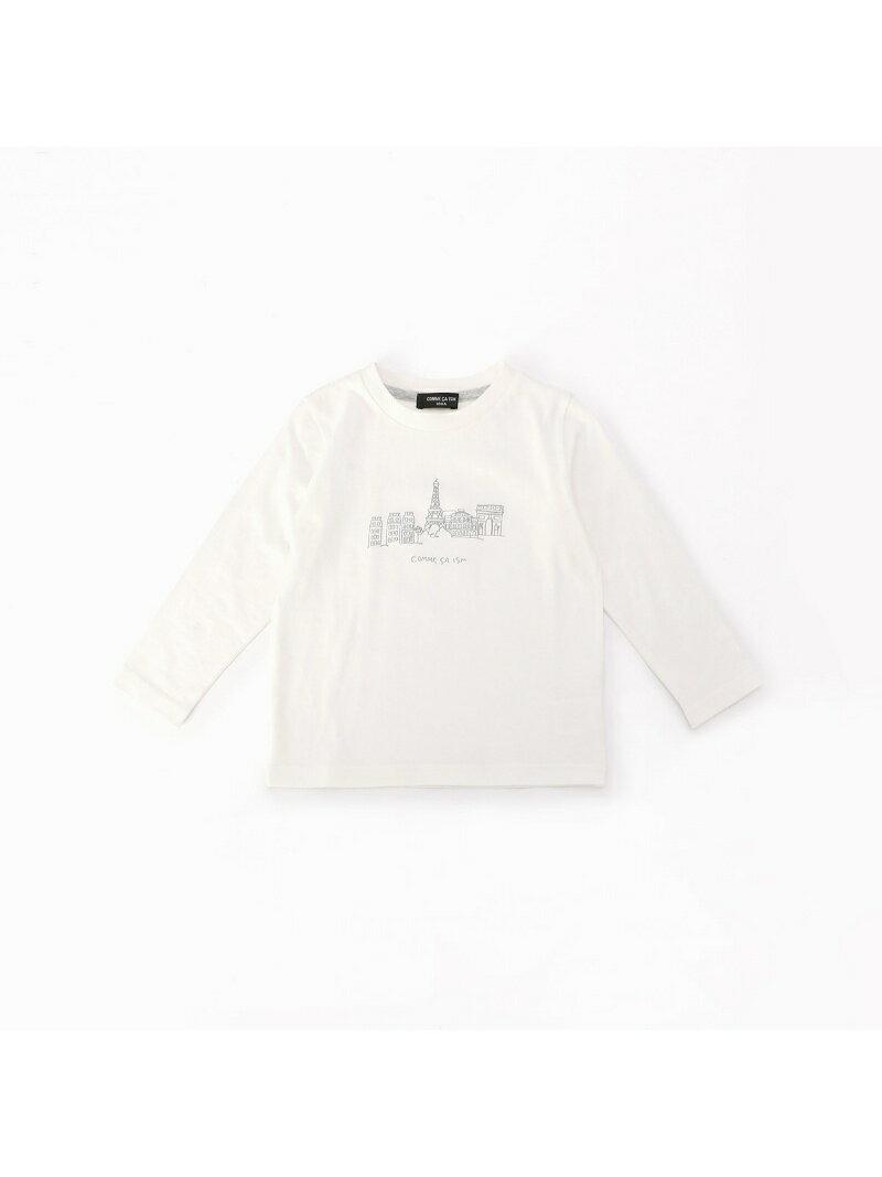 COMME CA ISM 【キッズ・ベビーおそろいアイテム】 刺繍風プリント 長袖Tシャツ コムサイズム カットソー