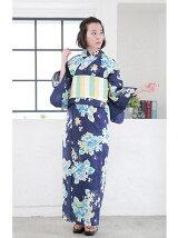 紫陽花柄浴衣