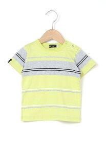 【SALE/30%OFF】BeBe 天竺パネルボーダーTシャツ ベベ オンライン ストア カットソー【RBA_S】【RBA_E】【送料無料】