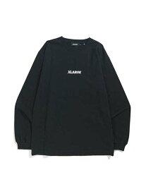 XLARGE L/S TEE EMBROIDERY STANDARD LOGO エクストララージ カットソー Tシャツ ブラック グリーン ホワイト【送料無料】